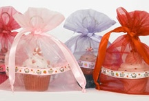 Cupcake / Gift  pouches and bags of organza, fabric, velvet, satin and lace