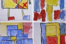 Artist Piet Mondrian in Elementary Art / by Artist Parson