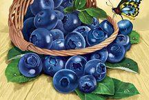 акварель фрукты