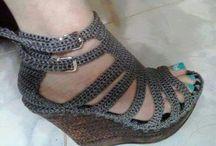Örgü sandalet