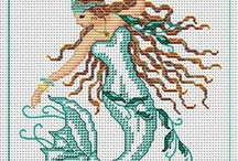 MERMAID -CROSS STITCH /EMBROIDERY