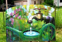 murales de jardin