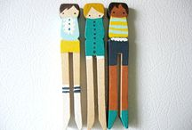 Clothespin people  / by Nana