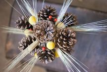 Gorgeous Autumn / Winter Decoration, Created By Tinkering With Pine Cones