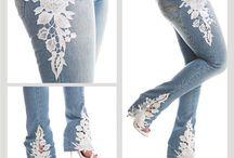 pantalones encajes