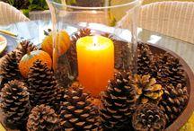 decorazioni natalizie e autunnali