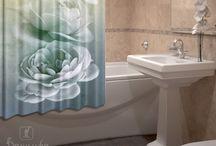 Шторы. Для Ванной комнаты / Для вас свежие дизайны штор (занавесок) для ванной. Есть, что выбрать, даже очень привередливой хозяйке. 20.01.2018