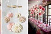 Pompony bibułowe - tania i efektowna dekoracja