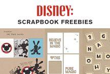 Disney Scrapbook Freebies / Find FREE Digital, Hybrid + Printables for Disney Scrapbooking, Project Life,  Smash Books & more!   Enjoy!!