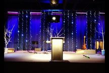 Stage And ceiling design / Having a different theme is great for your next event.  Let us help you create that look.  www.yourmainstream.com