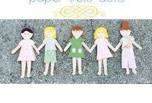 Felt paper dolls