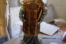 San Filippo Neri / Opera su commissione, modellata e scolpita a mano in tecnica mista.