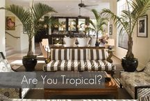 Tropical resort decor