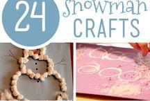 Snowmen crafts.