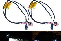 Car T20 decoder, 7443 Decoder, 50W 6ohm Load Resistor LED Cable Harness warning canceler 7443 T20 Decoder