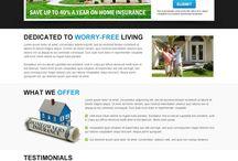 home insurance landing page design