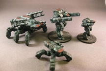 Horizon Wars Miniatures / Miniatures suitable for games of Horizon Wars, from Osprey Games.