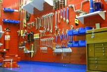 Storage & Organization Ideas / A gallery of tool storage and organization ideas for home organization and garage storage