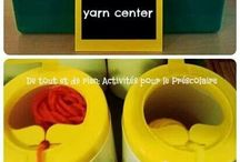 Yarn Center- plastic containers