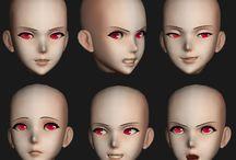 anime head 3d