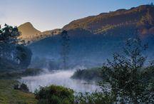 India / Miste morning in india