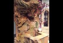 gruta con cascada de agua