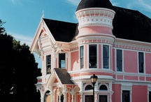 """Painted ladies ... Victorian homes / Love the architecture and the color combinations of Victorian homes that are often referred to as """"painted ladies"""" which is such a great term. Here is my little collection of the ladies."""