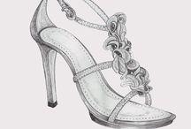 renkli ayakkabı tasarımları çizim