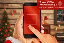Christmas design / PSD graphic, mockup, scene creator, stock photos...