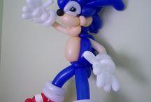 palloncini personaggi Sonic dash
