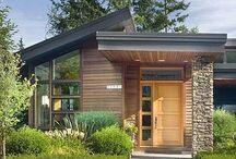 Fachadas de casas, comércios e prédios / Várias ideias de fachadas rústicas, modernas, pequenas, geminadas e etc