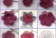 Flor de croche em 3D