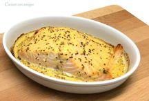 Recetas: con pescado (salmón, bacalao, atún,...); con almejas...