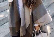 Poncho Street Style Winter Fashion ❤️