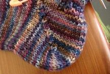 Knit sock heels how to do.
