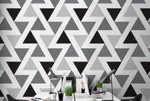 Black and white / Black and white in the design of the wallpaper