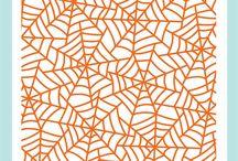 Spider Web Background Stamp