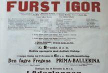 Opera posters. Borodin. Князь Игорь