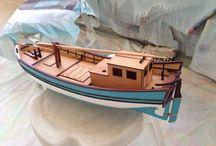 Model Gemi Çalışmalarım / My Model Ship Work