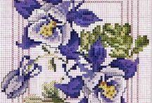 Korsstygn Blommor B 467