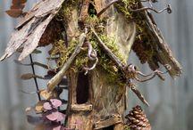 Fairy houses and mini gardens