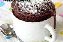 Microwave chocolate cakes