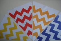 chevron bunting / custom made chevron fabric bunting