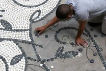 pebble mosaic, glass, tile etc... / by Kate Falk