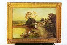 Bánáti - Falusi tájkép (olaj, vászon)