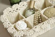 porta objetos em crochet