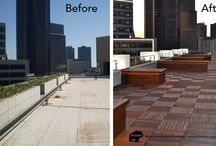 Before and After Decks / Fabulous before and after of rooftop decks and outdoor spaces