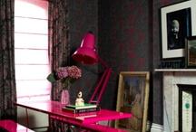 Black walls pink roof