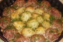 котлеты с картошкой