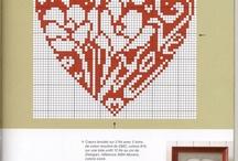 Korsstygn Hjärtan B 344